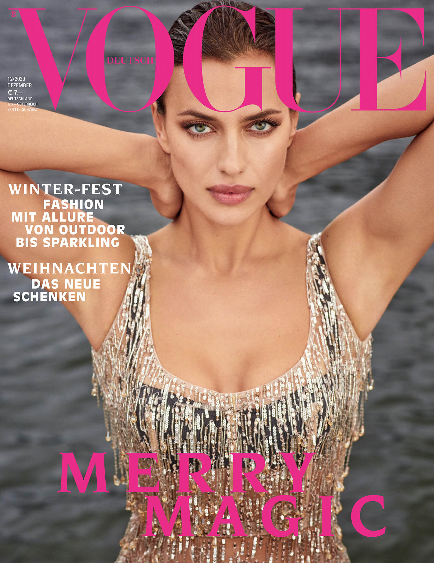 Irina Shayk covers Vogue Germany December 2020 by Luigi & Iango