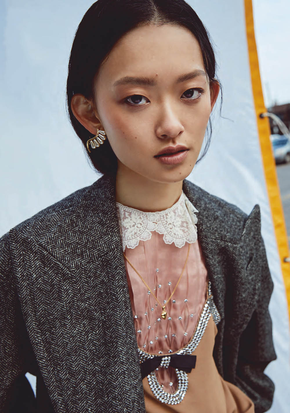 Julee Huang and Samara Young by Brent Goldsmith for Elle Canada December 2020 January 2021