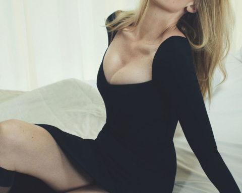 Lara Stone by Emma Summerton for British Vogue December 2020