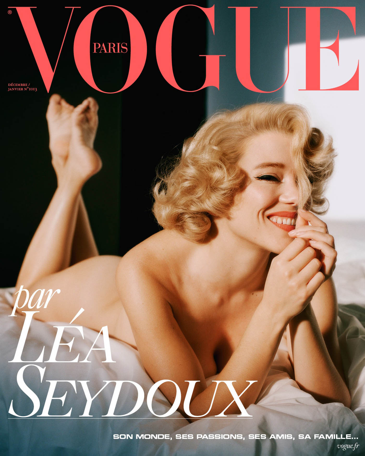 Léa Seydoux covers Vogue Paris December 2020 January 2021 by Alasdair McLellan