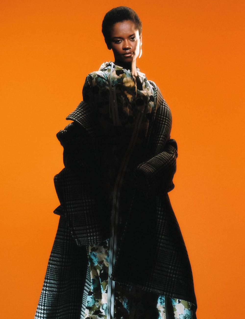 Letitia Wright covers Dazed Magazine Autumn Winter 2020 by Arnaud Lajeunie
