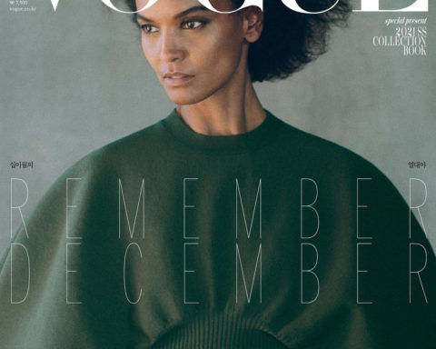 Liya Kebede covers Vogue Korea December 2020 by Chris Colls