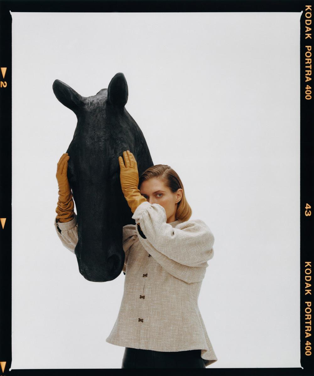 Małgosia Bela covers Vogue Czechoslovakia December 2020 by Marcin Kempski