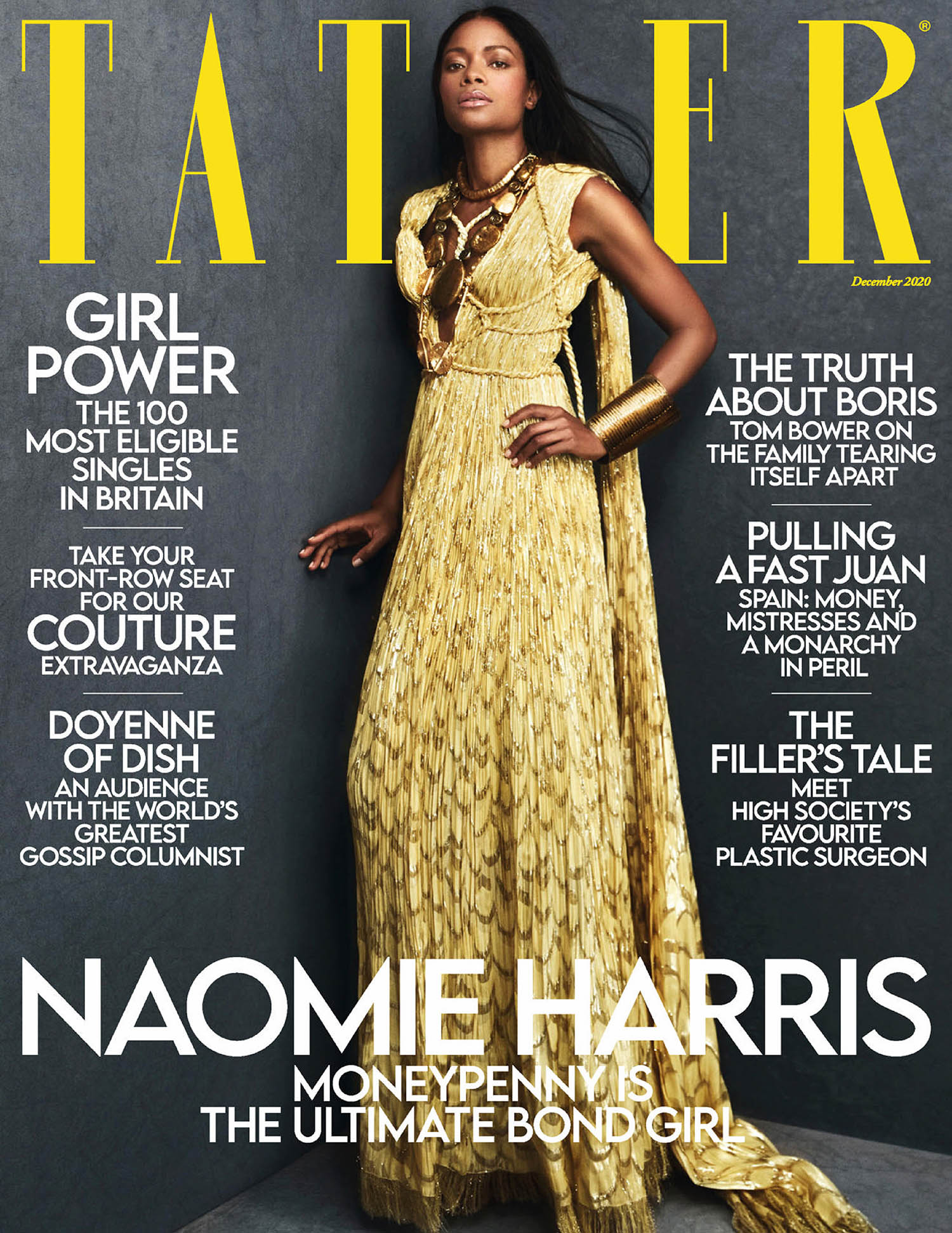 Naomie Harris covers Tatler UK December 2020 by Txema Yeste
