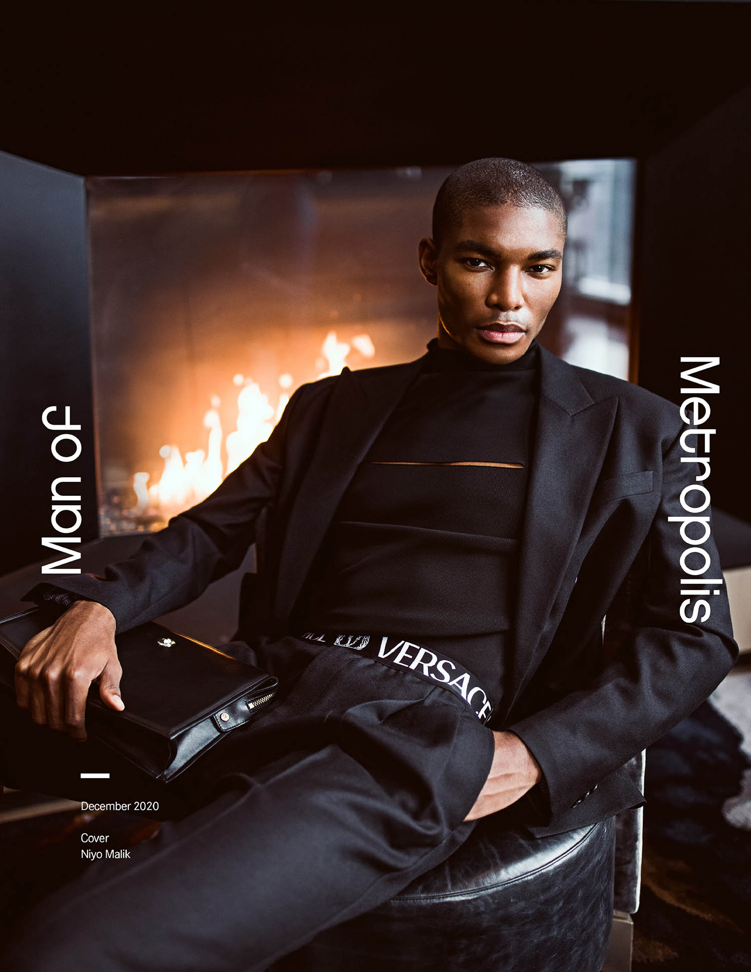 Niyo Malik covers Man of Metropolis December 2020 by Daniel Matallana
