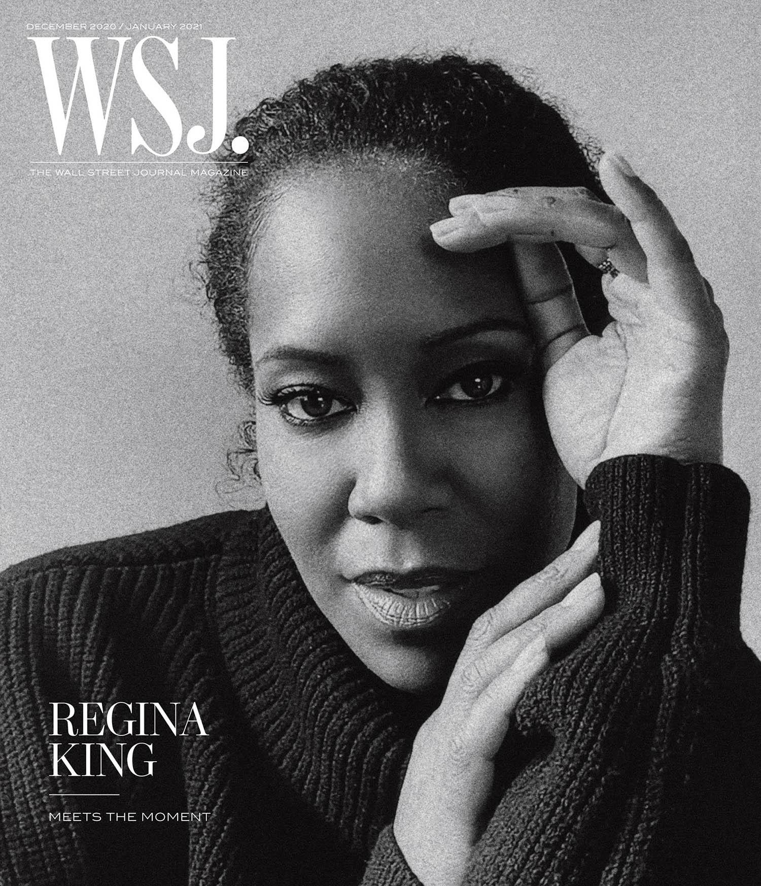 Regina King covers WSJ. Magazine December 2020 January 2021 by Alexandra Leese