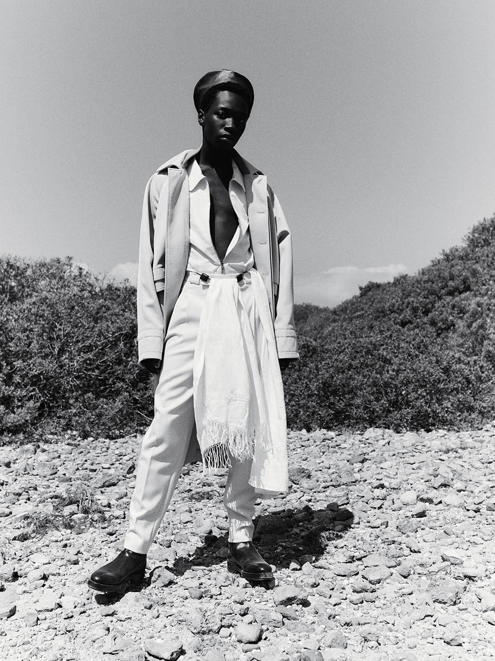 Sekhou Dramé by Amit Israeli for AnOther Magazine Autumn Winter 2020