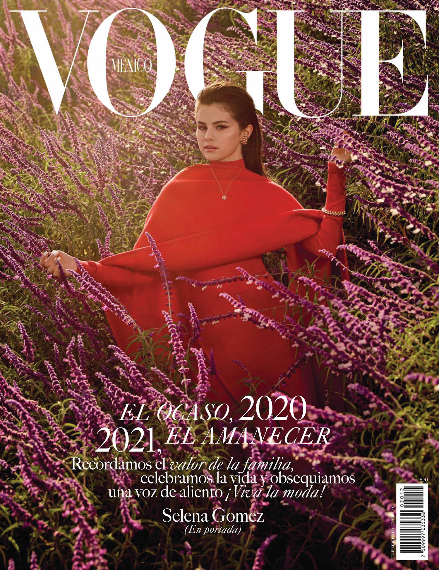 Selena Gomez covers Vogue Mexico & Latin America December 2020 January 2021 by Dario Calmese