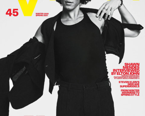 Shawn Mendes covers VMan Winter 2020 Spring 2021 by Ben Hassett