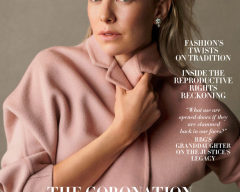 Vanessa Kirby covers Harper's Bazaar US December 2020-January 2021 by Scott Trindle