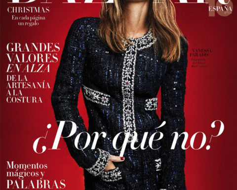 Vanessa Paradis covers Harper's Bazaar Spain December 2020 by Xavi Gordo