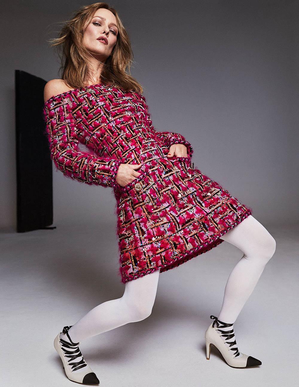 Vanessa Paradis covers Harper's Bazaar Spain December 2020 by Xavi Gordo