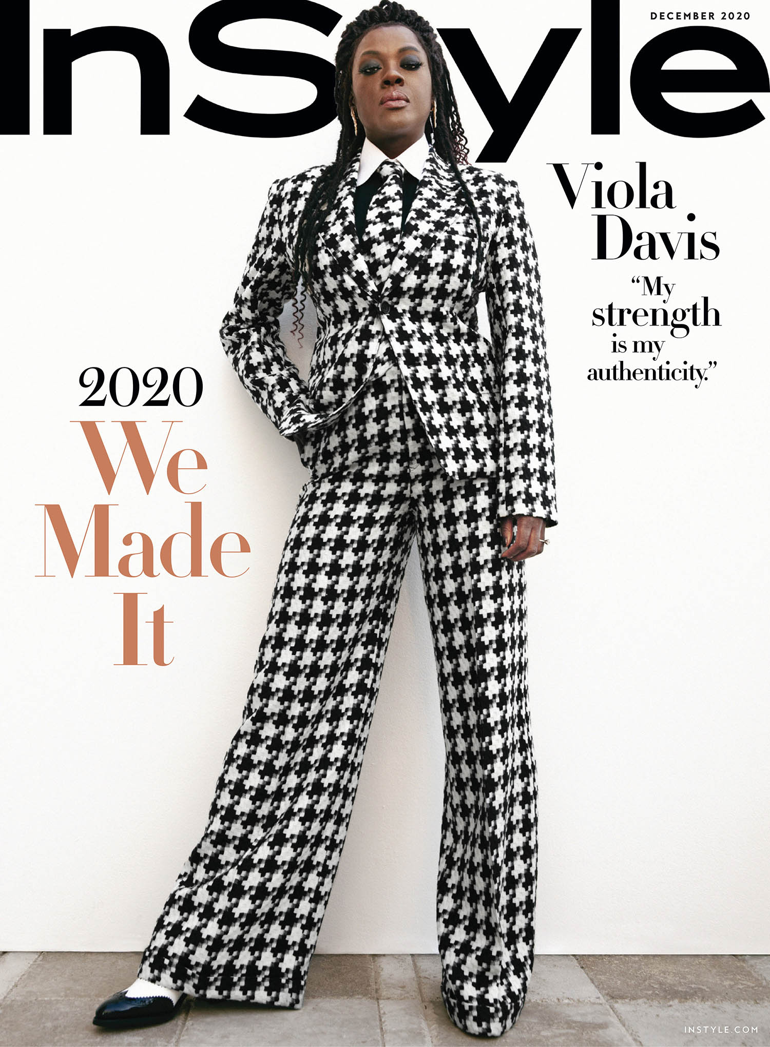 Viola Davis covers InStyle US December 2020 by AB+DM