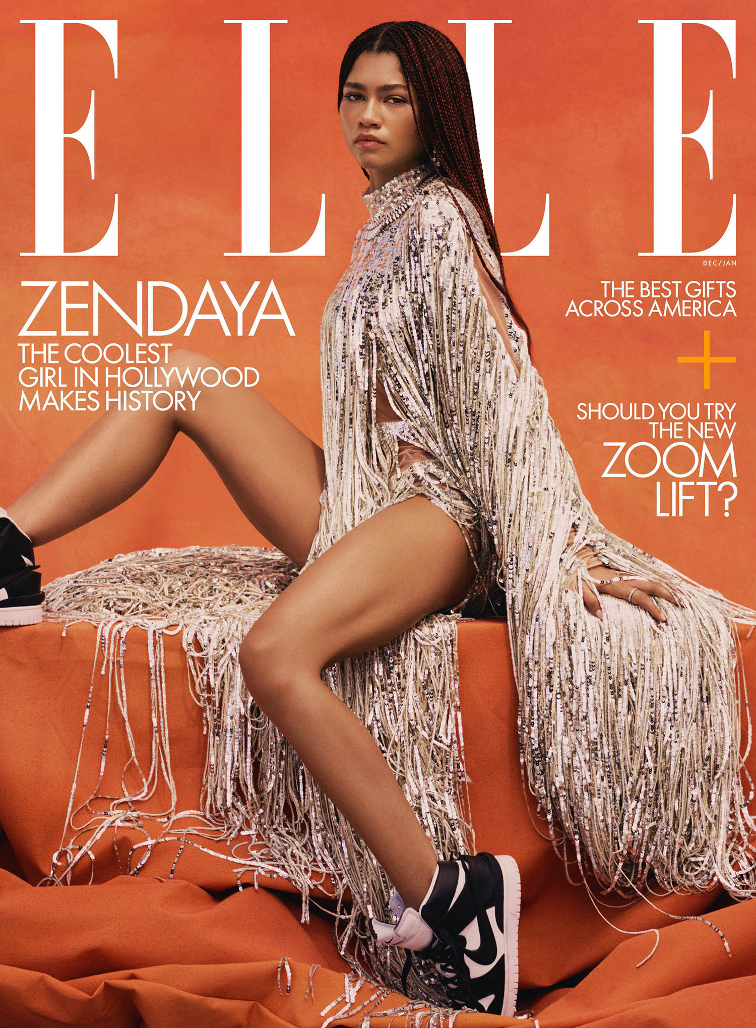 Zendaya covers Elle US December 2020 January 2021 by Micaiah Carter