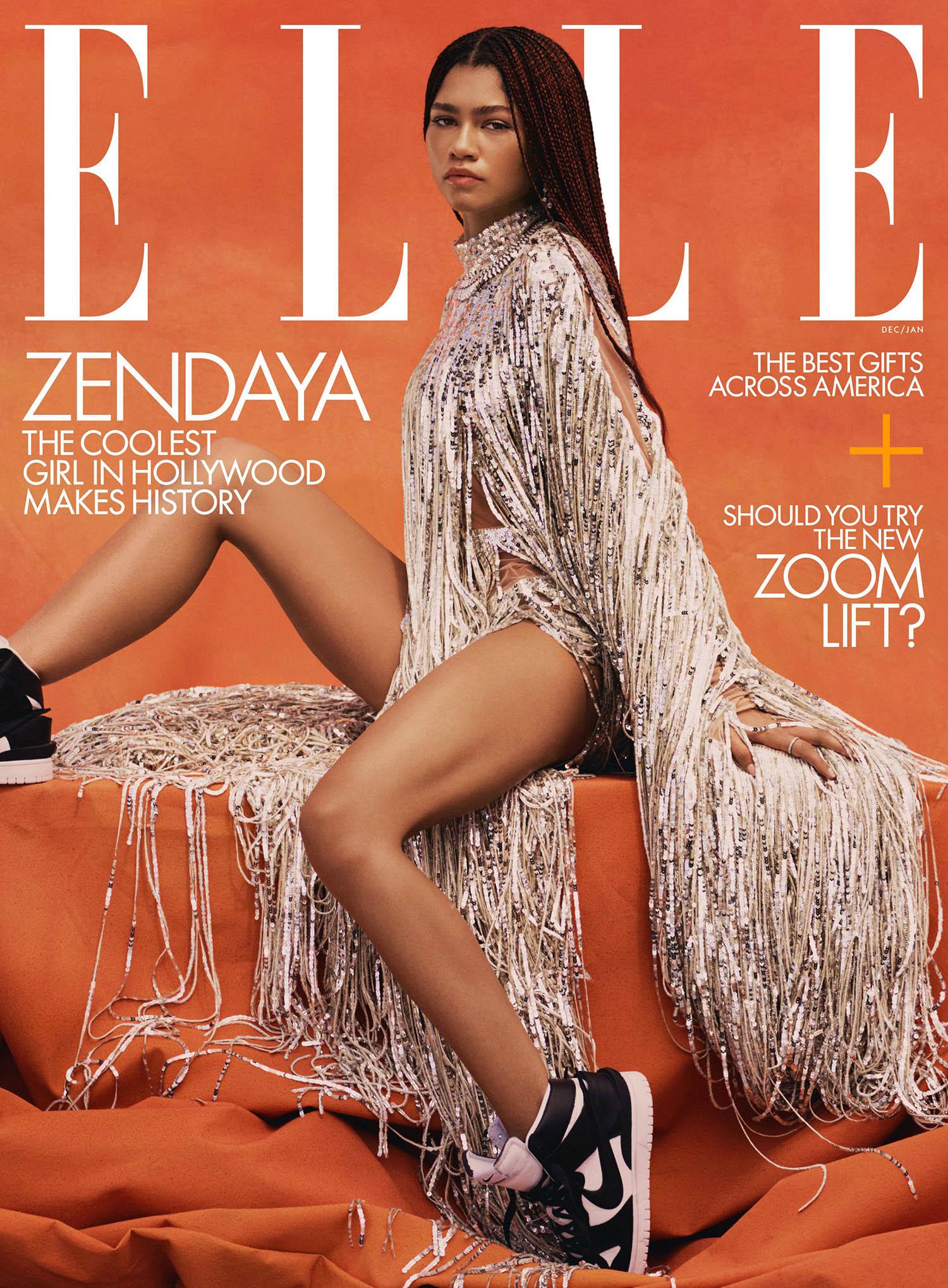 Zendaya covers Elle US December 2020 January 2021 by Micaiah Carter