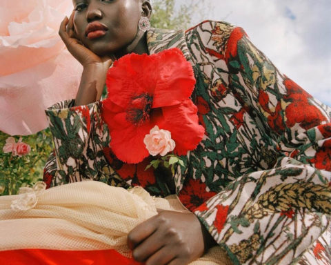 Adut Akech by Nadine Ijewere for British Vogue January 2021