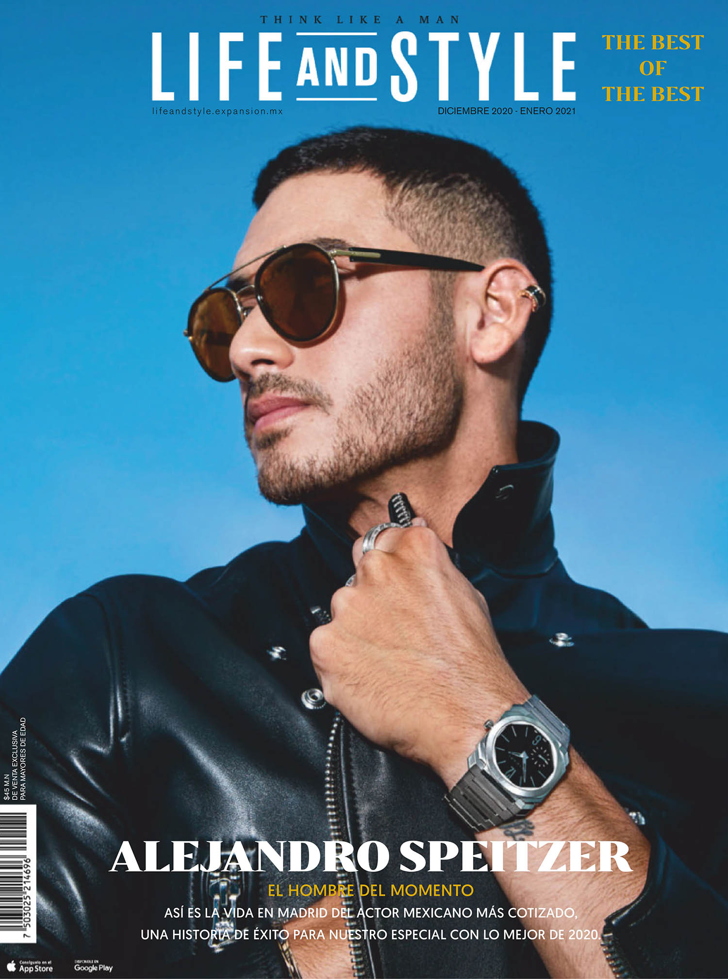 Alejandro Speitzer covers Life and Style Mexico December 2020 January 2021 by Daniel Rojas