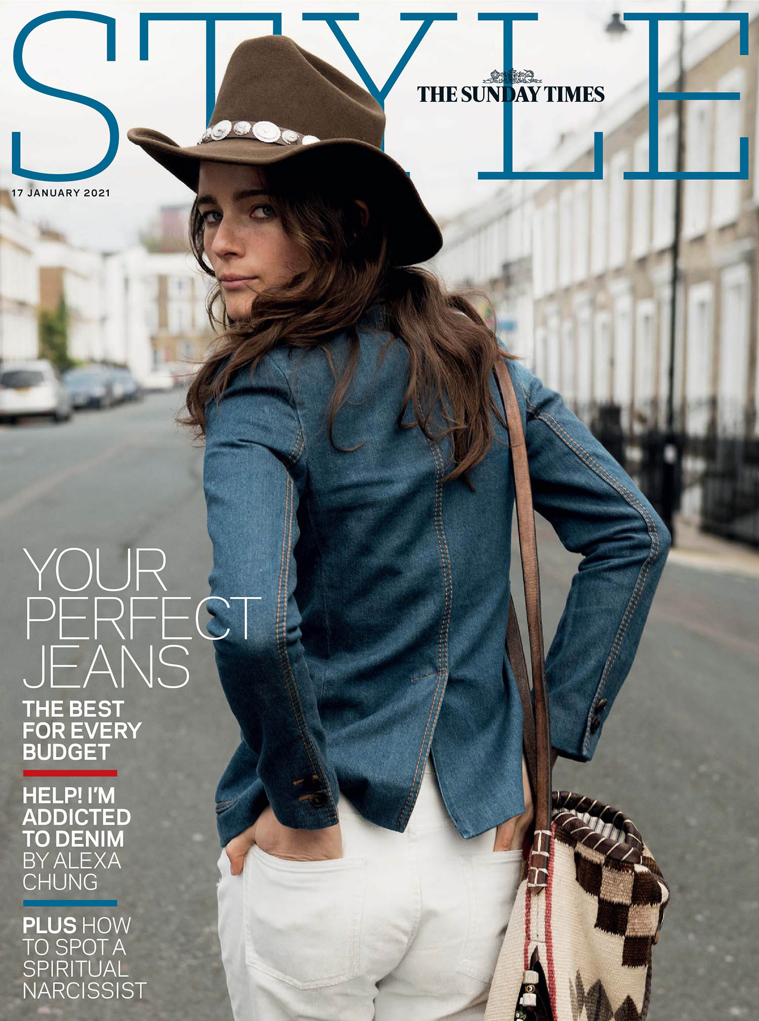 Anna de Rijk covers The Sunday Times Style January 17th, 2021 by Claudia Knoepfel