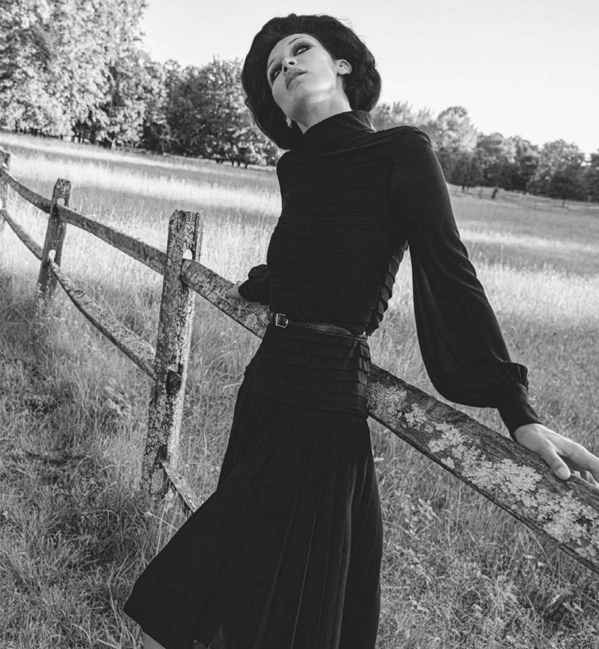 Bella Hadid by Inez and Vinoodh for British Vogue January 2021