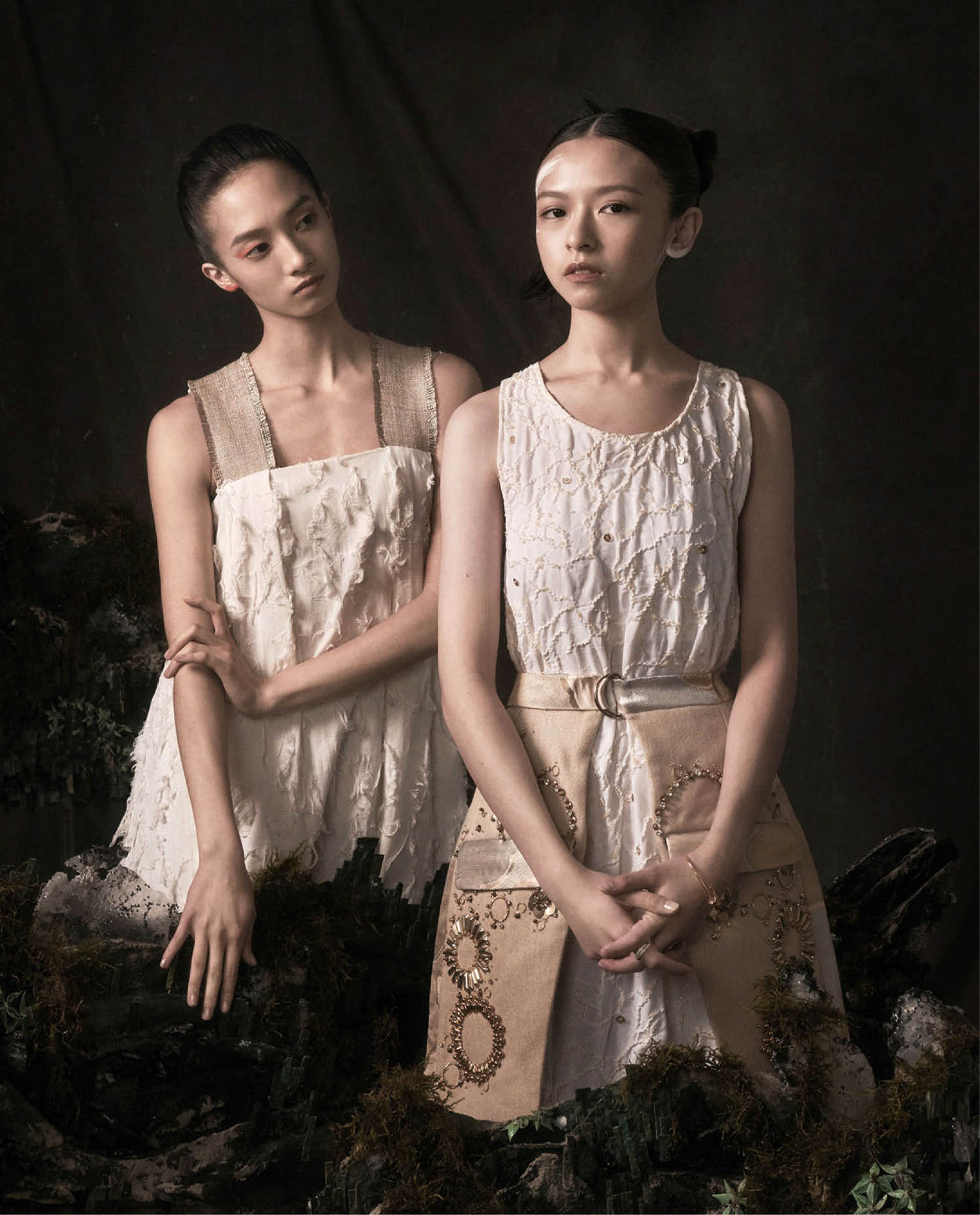 Buffy Chen and Han Ning by Cheng Po Ou Yang for Vogue Taiwan January 2021