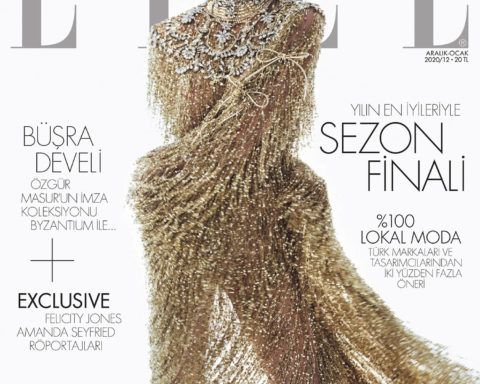 Büşra Develi covers Elle Turkey December 2020 January 2021 by Emre Ünal