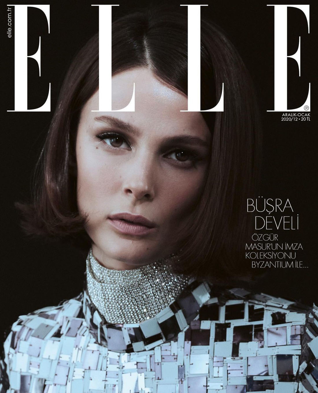Büşra Develi covers Elle Turkey December 2020 January 2021 by Emre Ünal