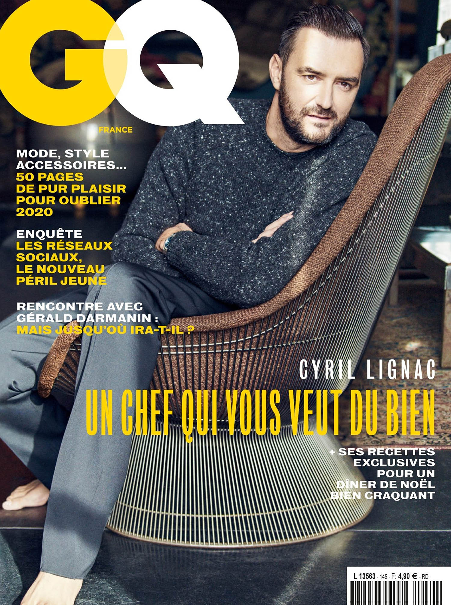 Cyril Lignac covers GQ France December 2020 January 2021 by Matthew Brookes