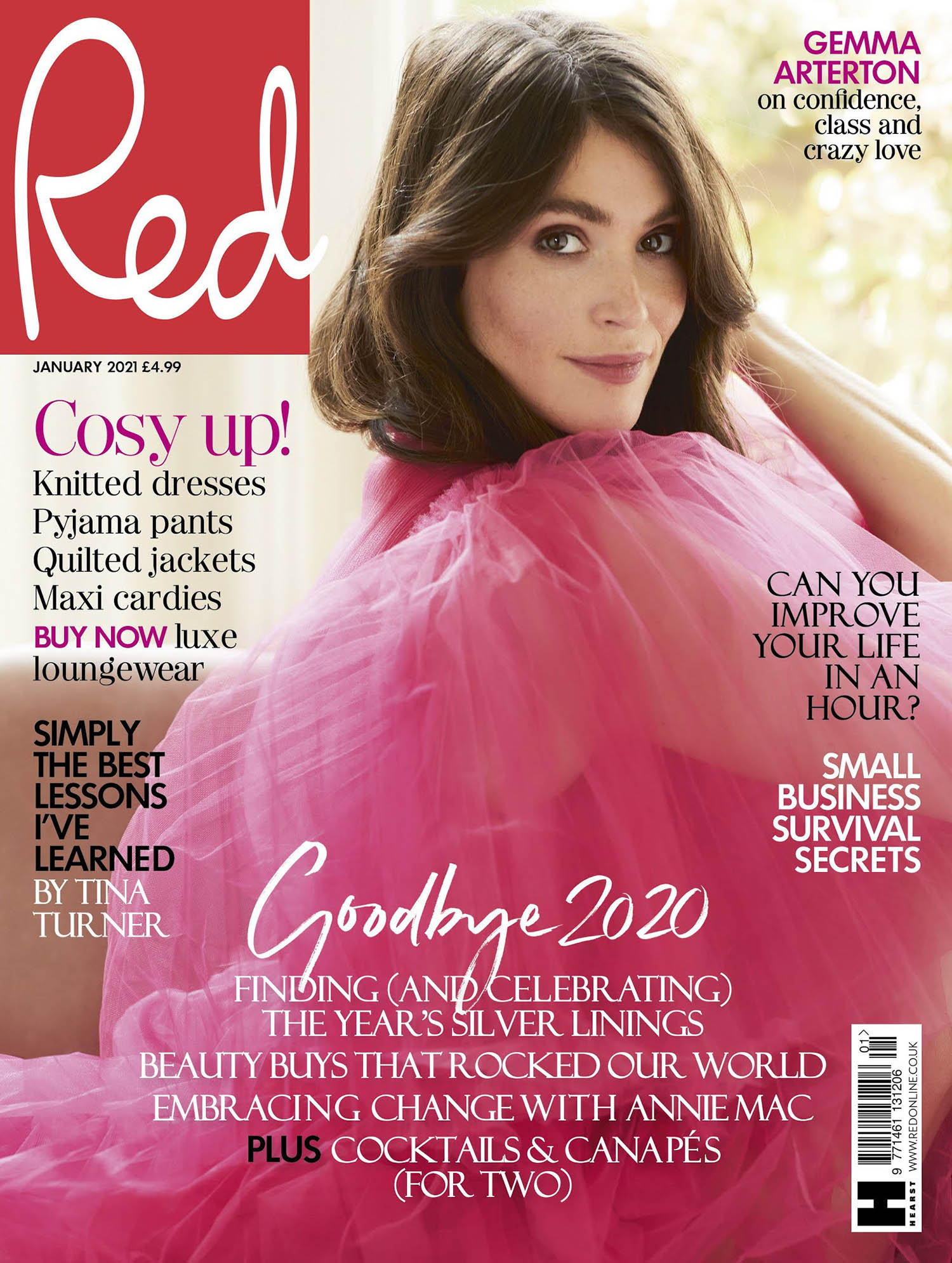 Gemma Arterton covers Red Magazine UK January 2021 by Chloe Mallett