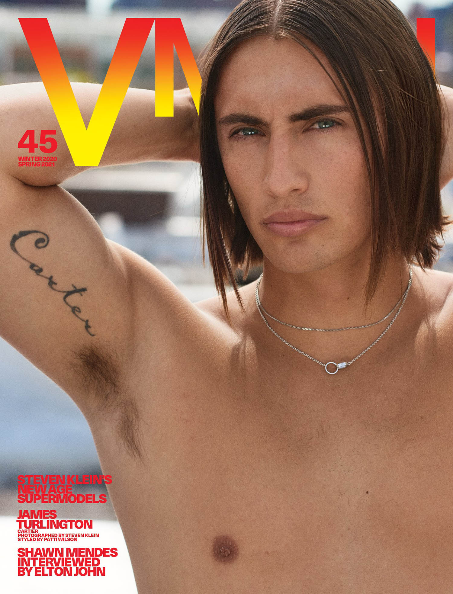 James Turlington covers VMan Winter 2020 Spring 2021 by Steven Klein