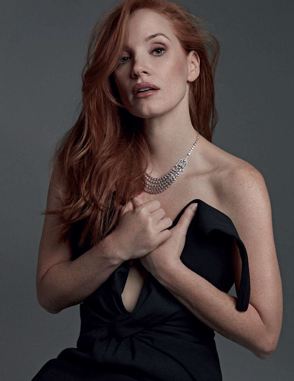 Jessica Chastain covers Harper's Bazaar Spain January 2021 by David Roemer
