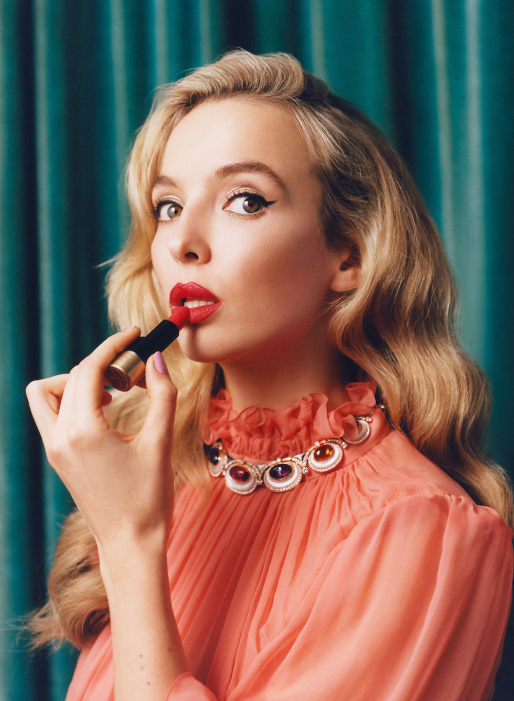 Jodie Comer covers InStyle US January 2021 by Charlotte Hadden