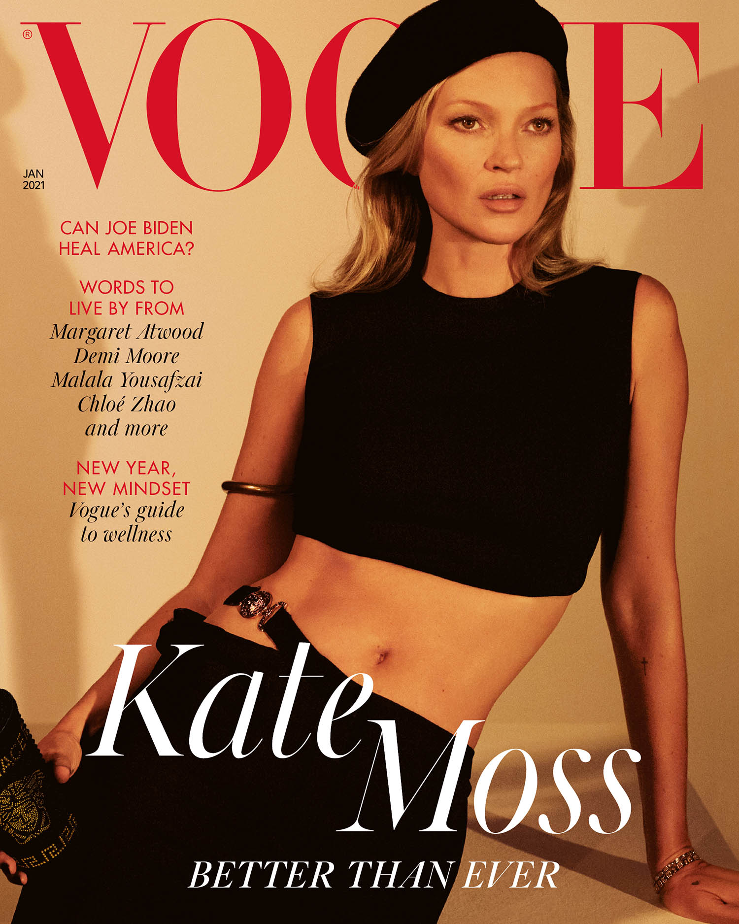 Kate Moss covers British Vogue January 2021 by Mert & Marcus