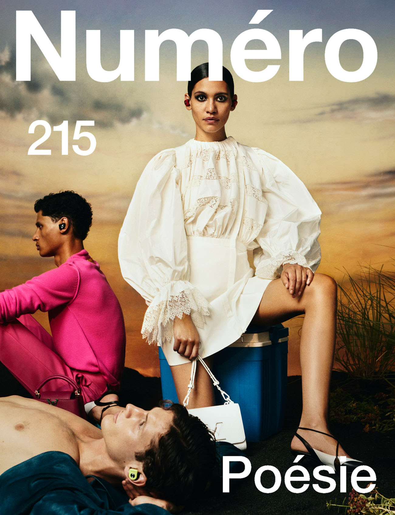 Kaya Wilkins covers Numéro August 2020 by Dan Beleiu