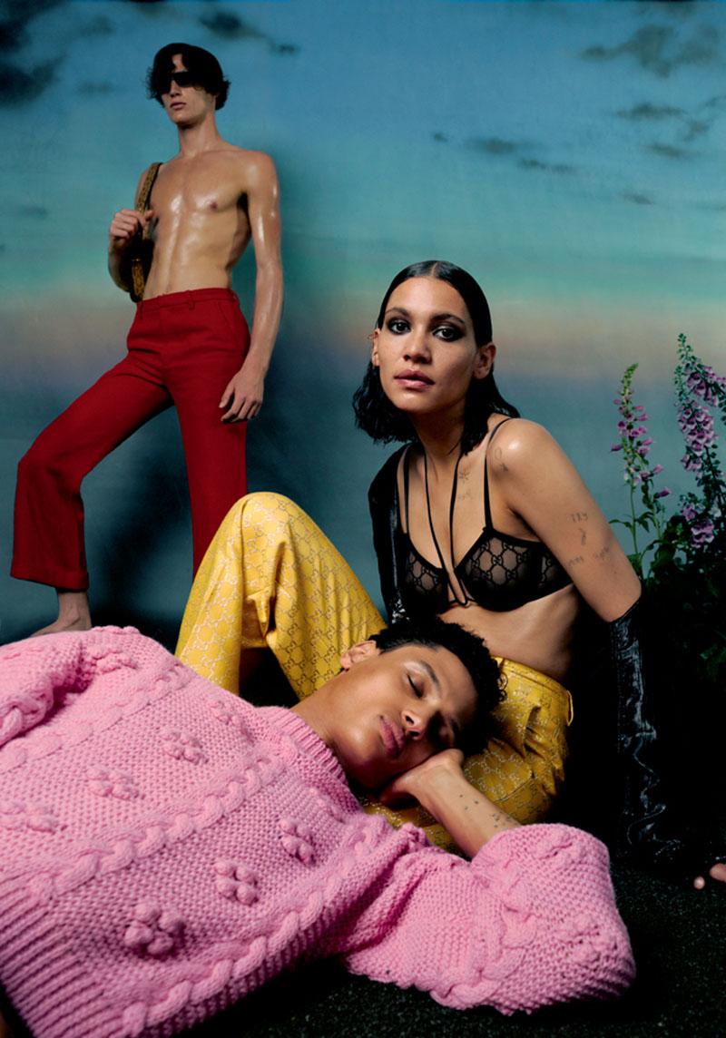Kaya Wilkins covers Numéro August 2020 by Dan Beleiu