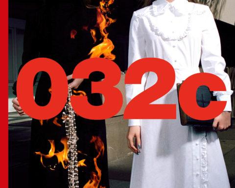 Kris Grikaite covers 032c Magazine Winter 2020 by Hugo Comte