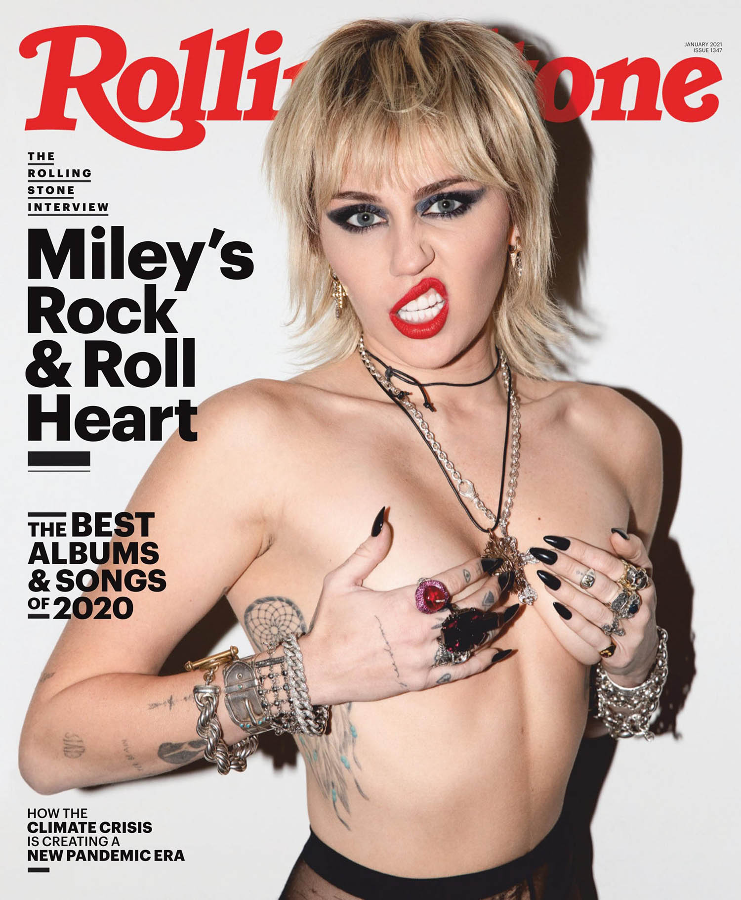 Miley Cyrus covers Rolling Stone January 2021 by Brad EltermanMiley Cyrus covers Rolling Stone January 2021 by Brad Elterman