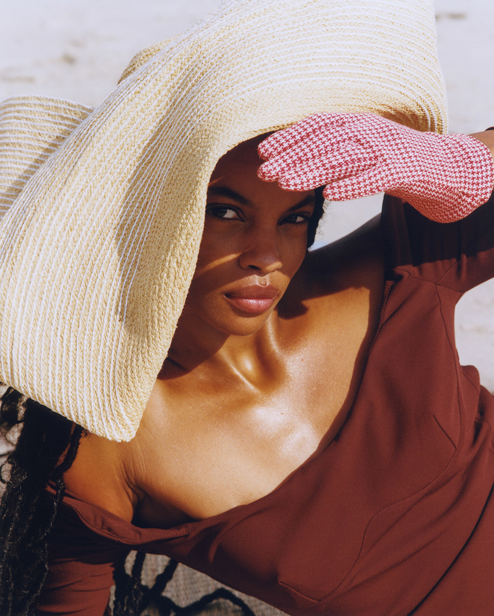 Najiyah Imani by Jonathan Schoonover for Elle Mexico January 2021