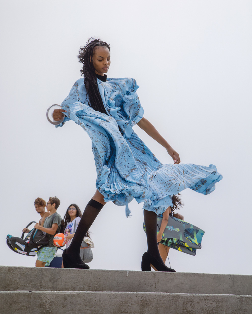 Najiyah Imani by Jonathan Schoonover for Elle Mexico January 2021