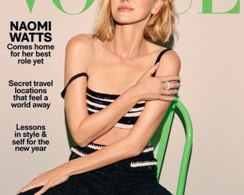 Naomi Watts covers Vogue Australia January 2021 by Carin Backoff
