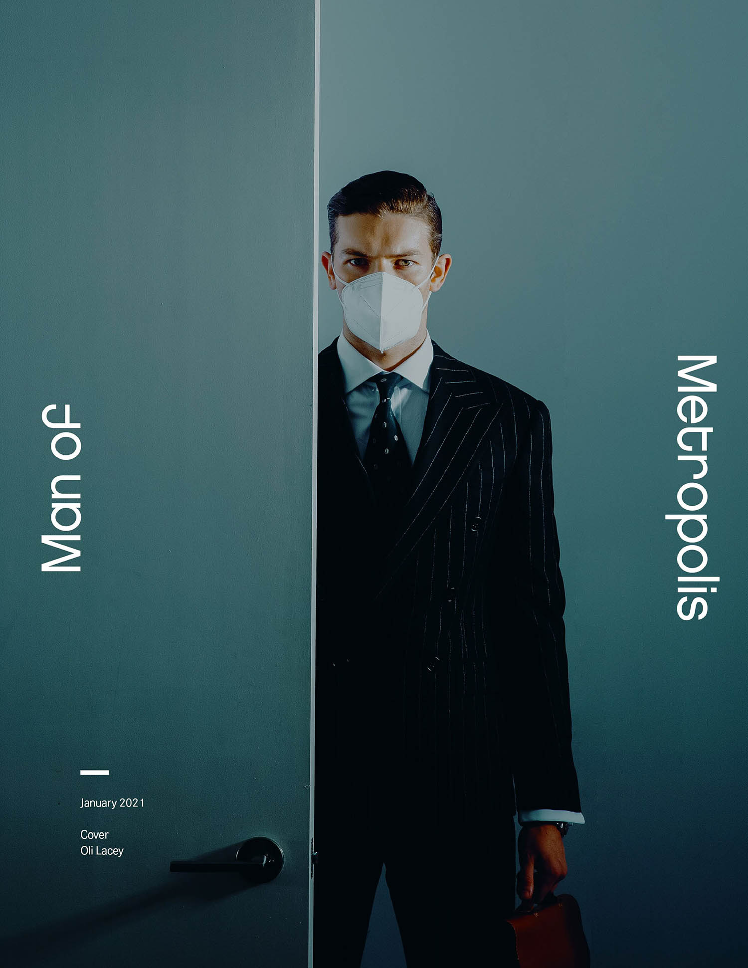 Oli Lacey covers Man of Metropolis January 2021 by Austin Augie
