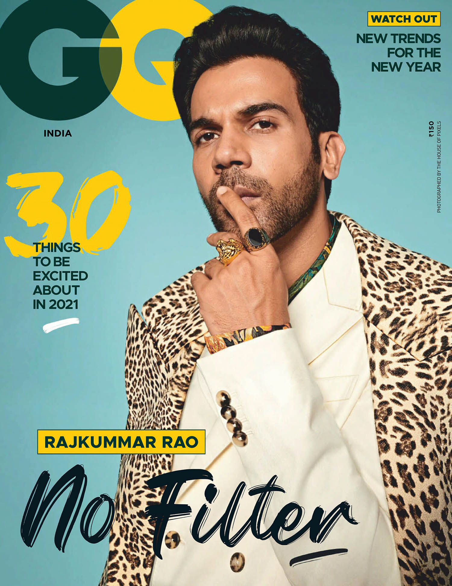 Rajkummar Rao covers GQ India January 2021 by The House of Pixels