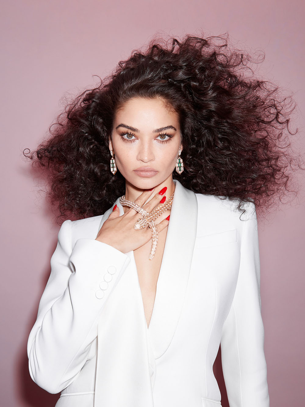Shanina Shaik covers Harper's Bazaar Singapore January 2021 by Claire Rothstein