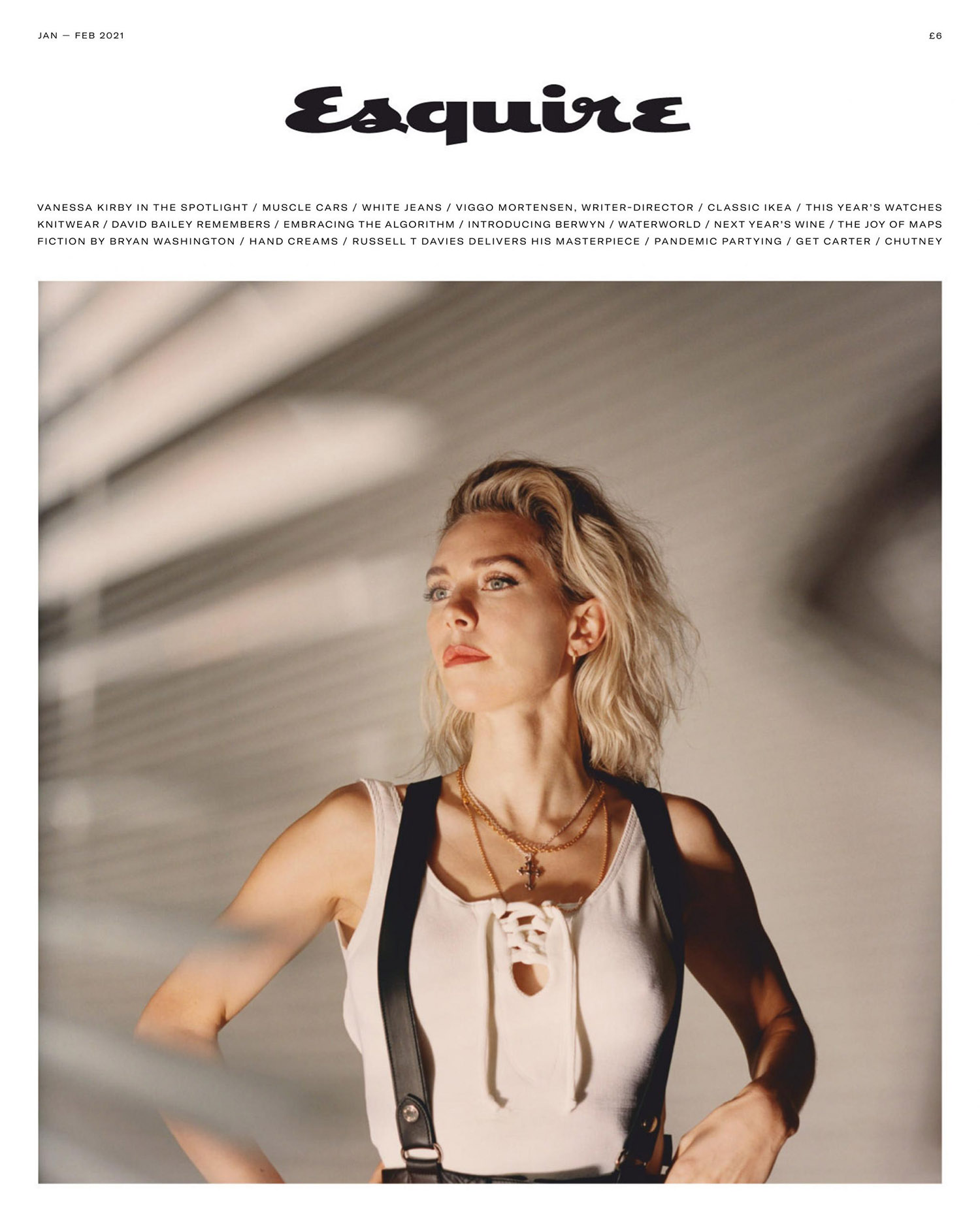 Vanessa Kirby covers Esquire UK January February 2021 by Tom Craig