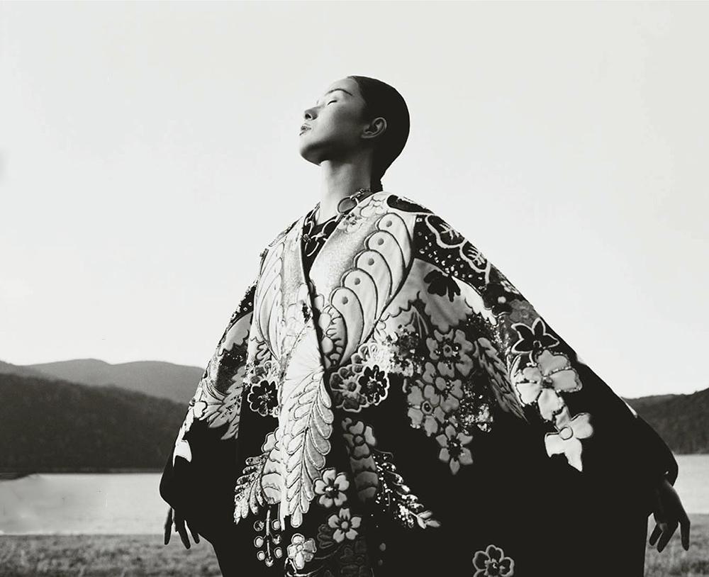 Xiao Wen Ju covers Vogue China January 2021 by Leslie Zhang