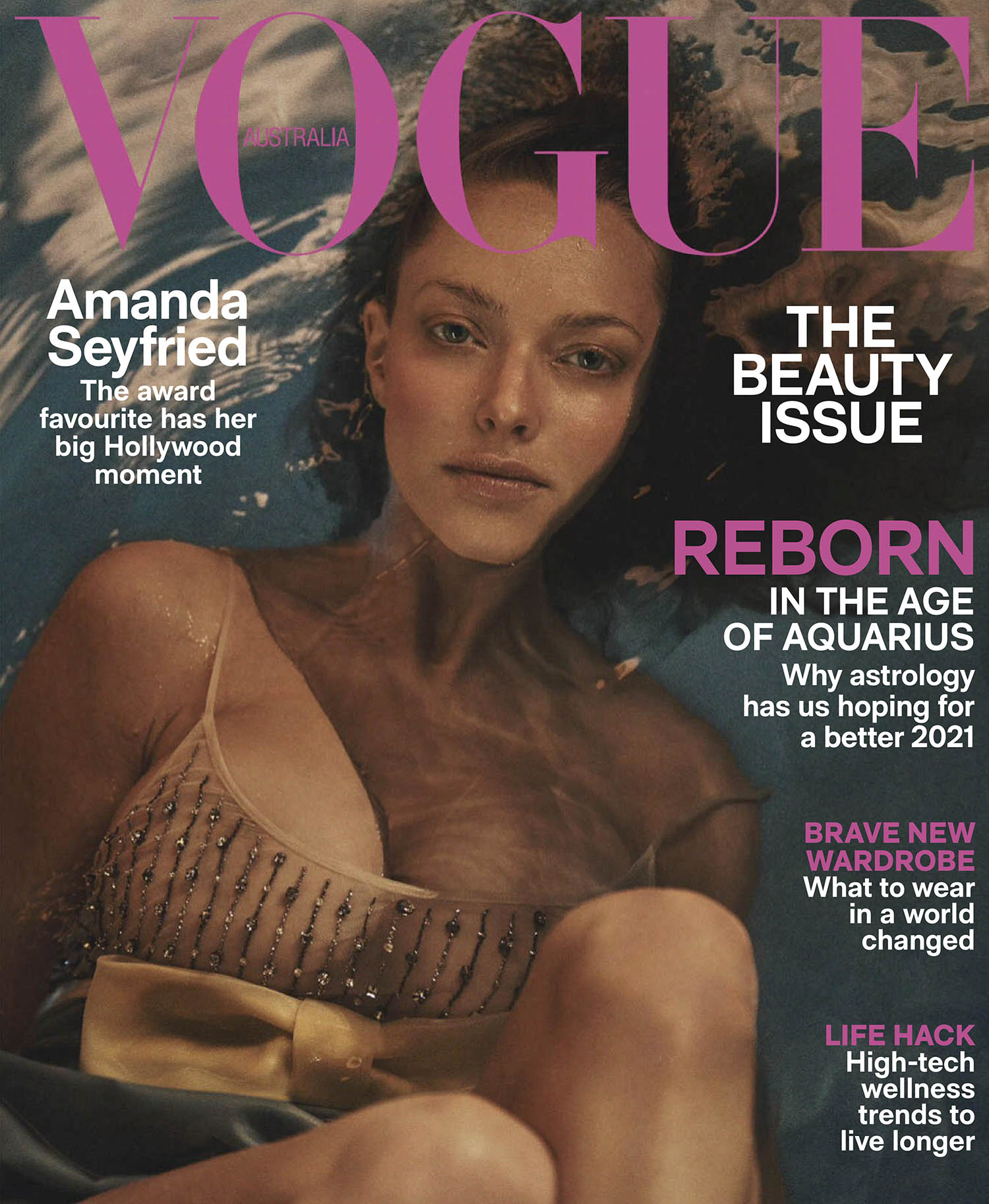 Amanda Seyfried covers Vogue Australia February 2021 by Lachlan Bailey