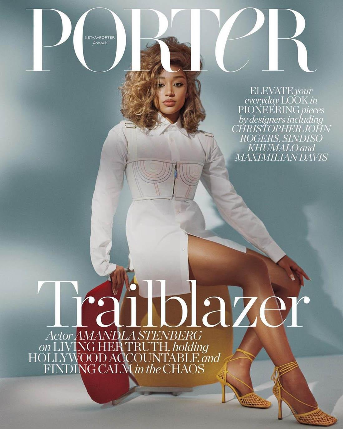 Amandla Stenberg covers Porter Magazine February 8th, 2021 by Miranda Barnes
