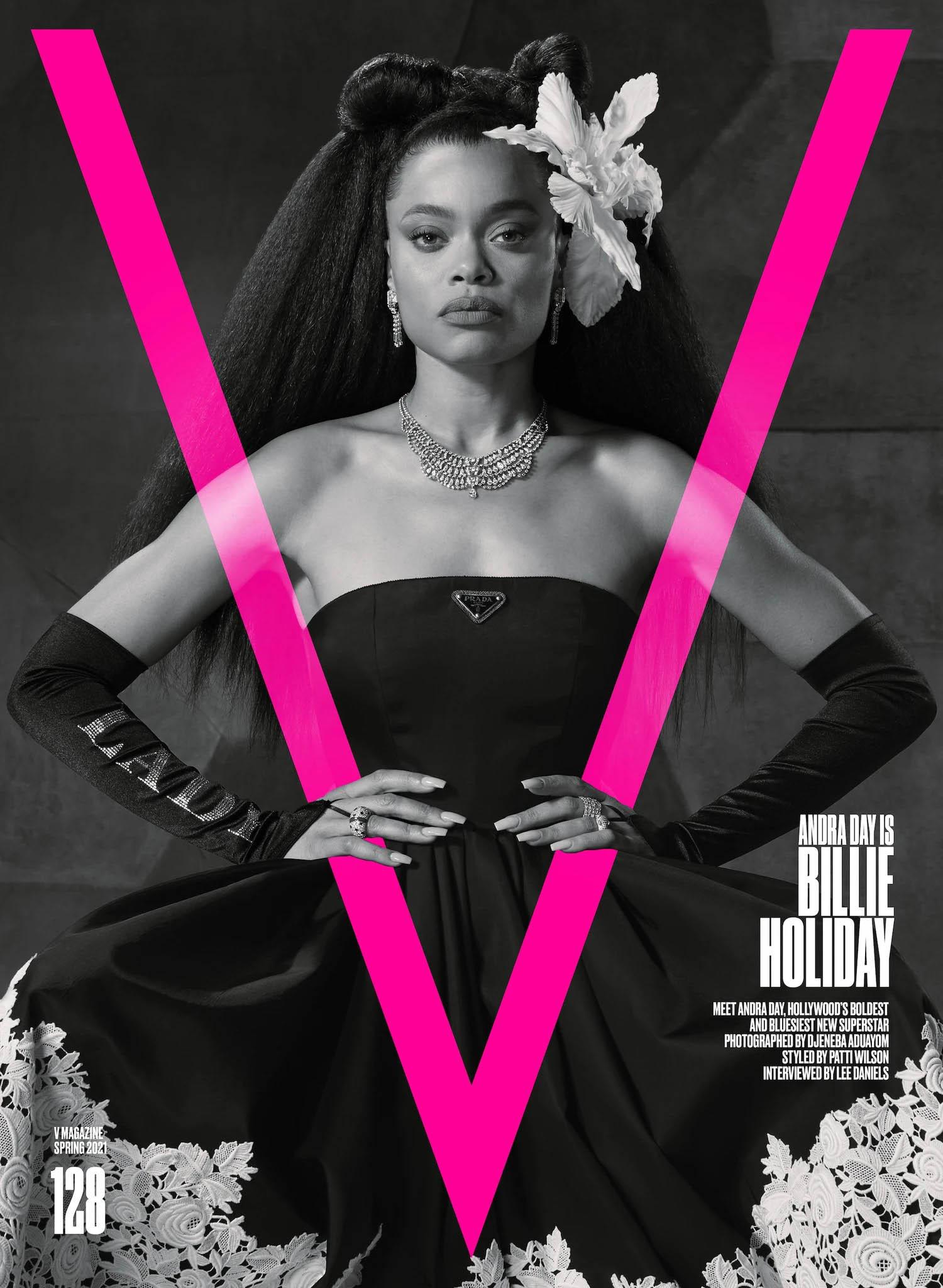 Andra Day covers V Magazine Spring 2021 by Djeneba Aduayom