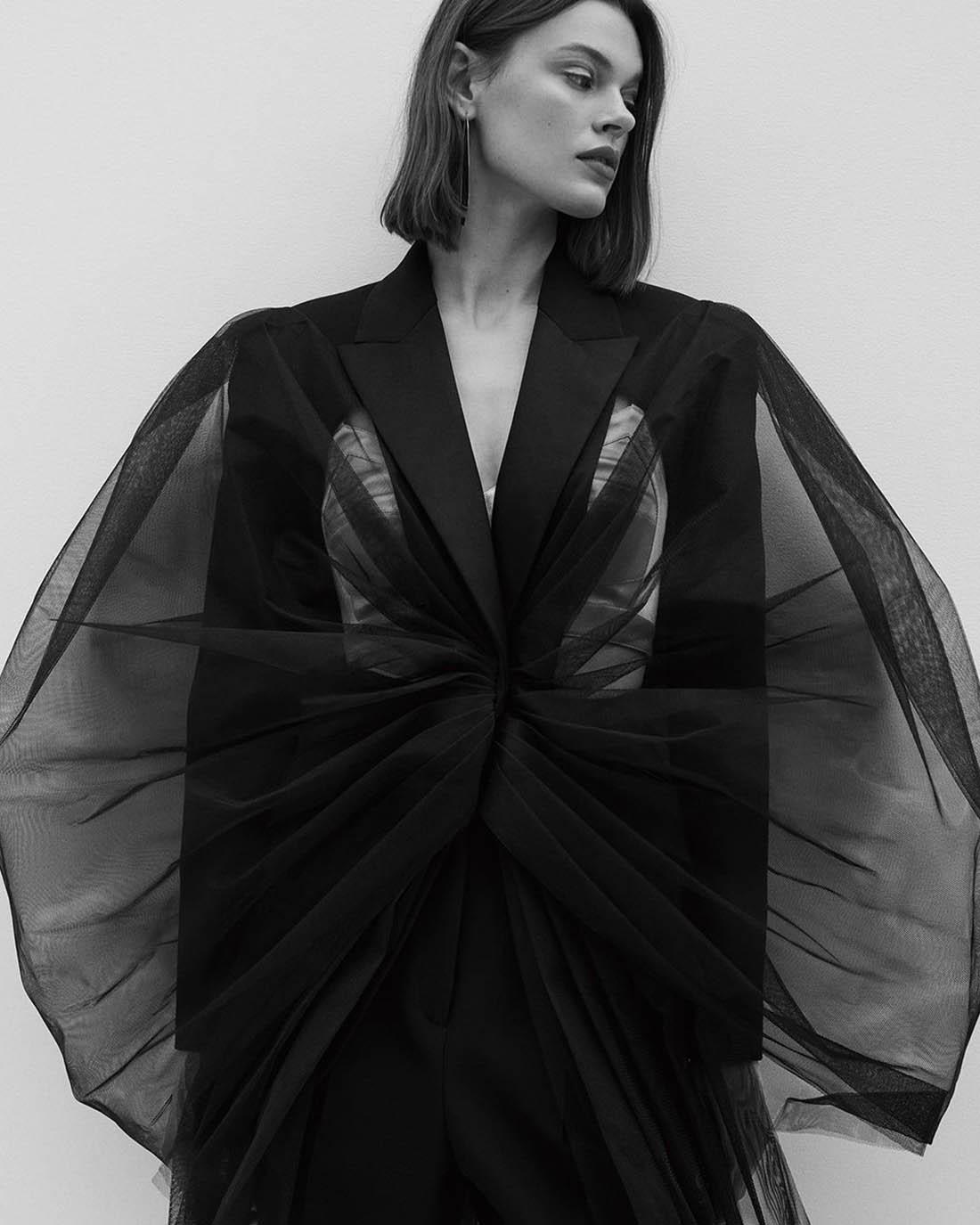 Cara Taylor by Thomas Slack for Vogue China February 2021