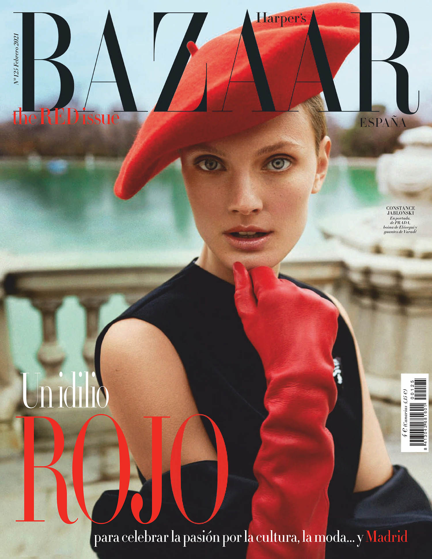 Constance Jablonski covers Harper's Bazaar Spain February 2021 by Xavi Gordo