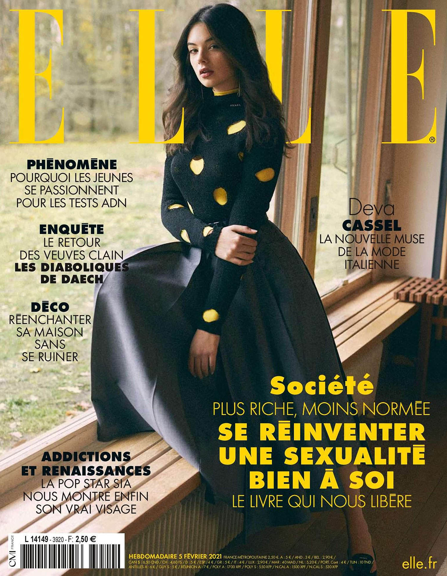 Deva Cassel covers Elle France February 5th, 2021 by Stefano Galuzzi